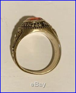 10K Gold Vintage Man's Class Ring Herff Jones 1975 Heavy 16 Grams