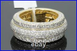 10K Yellow Gold Finish 2 Ct Mens Lab Diamond Engagement Wedding Pinky Ring Band