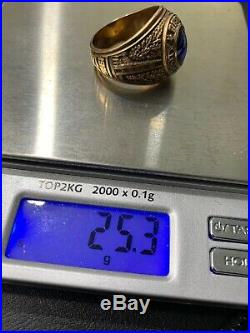 10k yellow gold vintage Duke University 1838 men's class ring 25.3g size 12