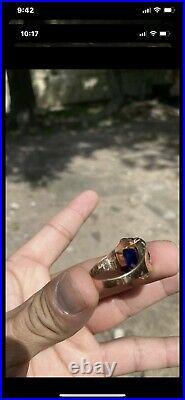 14K Solid Mens Rose Gold Ring