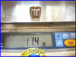 14k SOLID REAL GOLD VINTAGE Men ring Yellow 11.4g Size 9.5 8.5 9 10 11
