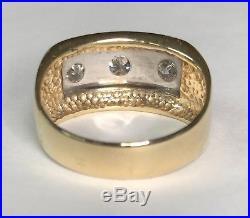 14k Yellow Gold Mens. 99 CT Diamond Ring Vintage Style APPRAISAL $2975