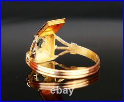 1839 Antique Nordic Poison Ring Men Unisex solid 18K Gold Ø 8.5 US / 1.6 g
