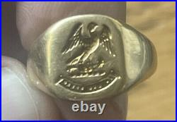 18K Solid Yellow Gold Ring Vintage Mens Heavy 9.3 Grams Scrap Or Not You Choose