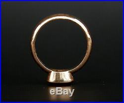 1910 Antique Men Ring solid 18K Orange Gold Garnet US8.75 /7.7 gr