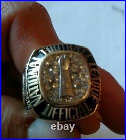 1972 SUPER BOWL VI Officials Ring Field Judge Authentic 10K Gold Rare Vintage