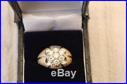 1.5 Carat 14k Vintage Mens Diamond Ring Size 12 SI QUALITY DIAMONDS