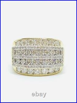 $5000.00 REtail-Vintage 14k Men's Diamond Ring 2.50ctw