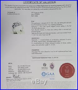 A STUNNING VINTAGE MENS 14K WHITE GOLD 0.35ct DIAMOND RING SIZE Z VAL $4345