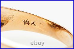 Antique 1920s. 40ct VS H Old Euro Diamond 14k Yellow Gold Mens Ring Band