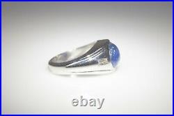 Antique $7000 7ct Natural NO HEAT BURMA BLUE Sapphire Diamond 14k Gold Mens Ring