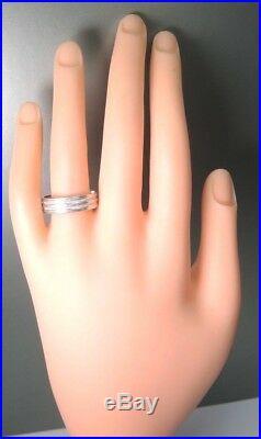 Antique Art Deco Vintage Platinum Men's Wedding Band MFG ESL Finger Sz 9 UK-R1/2