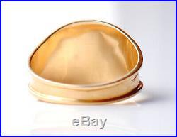 Antique European Men Unisex Ring solid 18K Gold Ø 9US / 2.7 g