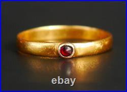 Antique European Men Unisex Ring solid 21K Gold Ø 10.25US /2.5 gr