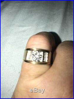 Antique Love Story Gold 10k Gold Ring Mens Pinky Ring. 15 Oz Diamonds Vintage