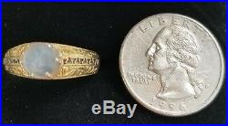Antique Moonstone Man In The Moon 14k Gold Ring-Moonstone Jewelry-Estate Jewelry