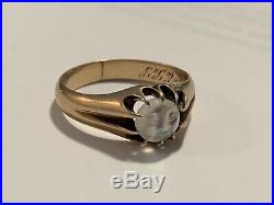 Antique Moonstone Man In The Moon Gold Ring Moonstone Jewelry-Estate Jewelry