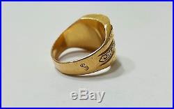 Antique Vintage Men Arab Unisex Ring solid 22K Gold, size 8.75 //20.0g