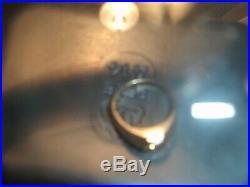 Art Deco Nouveau Diamond 14k Yellow Gold Antique Vintage Engagement Ring Men's