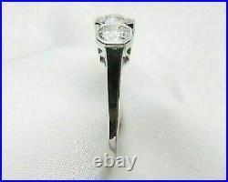 Art Deco Vintage Engagement Wedding Ring 2.10Ct Diamond In 14K White Gold Finish