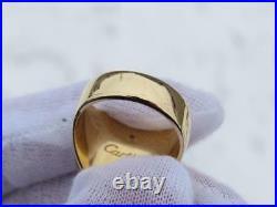 Beautiful Vintage 18K YG & Diamond Cartier Mens Lincoln Mercury Signet Ring WOW