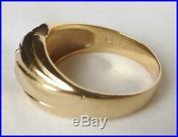 Classic Mens Vintage 14k Gold. 25 Ct 1/4 Ct Diamond Solitaire RingSz 11.757.4g