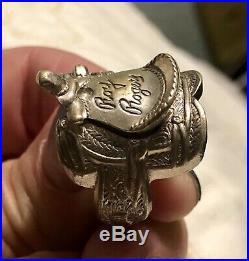 Estate ROY ROGERS genuine 1940s Saddle Ring Nickel Silver Vintage MENs SZ 11