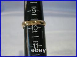 Estate Vintage MID Century Baden & Foss 10k Gold Art Deco Style Men's Ring