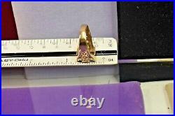 Estate vintage 10K gold men's bloodstone ring signeg Ba Bia sz 10