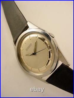 Ex Vintage 1950's WITTNAUER Automatic STEEL Chrome Plated Chapter Ring Cal11ARG