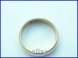 Fab Vintage Mens Heavy Solid 9ct Gold Large Wedding Ring Band Size Z 21.91mm Dia