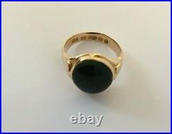 Fine Antique Victorian 15ct Gold (not 9ct) Bloodstone Men's Signet Ring Size Q