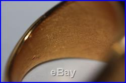 GIANNI VERSACE MEDUSA RING 18K Yellow Gold Electroplated Vintage Men's Band SZ 9
