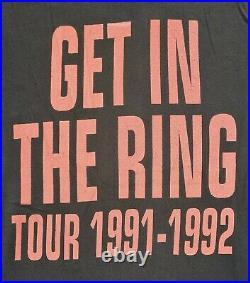 Guns N Roses 1991 Tour vintage shirt Civil War Get In The Ring RaRe