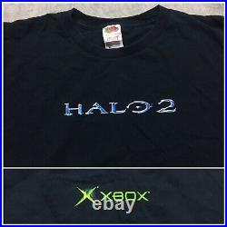HALO 2 VTG Y2K 2000s Microsoft XBOX Original T Shirt 2 Sided Promo Video Game XL