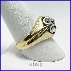 Handsome Vintage Men's. 80ct Diamond 14k Yellow Gold Ring (5360)