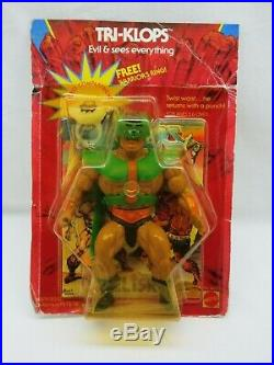 MOTU, VINTAGE, TRI-KLOPS, WARRIOR RING, Masters of the Universe, MOC, sealed, He-Man
