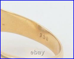 Men's Gents Vintage 18Ct 18K Gold And Amethyst Signet Ring