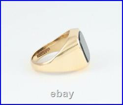 Men's Gents Vintage 9Ct 9K Gold Signet Ring With Bloodstone 11.2grams