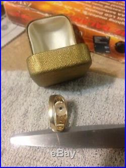 Men's Vintage 14K Solid Gold Star Sapphire & Diamonds Ring Size 101/2 6.2GRAMS