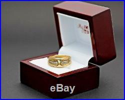 Men's Vintage 14k Yellow Gold Diamond Wedding Band R0074 FREE SHIPPING
