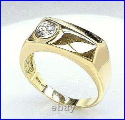 Men's Vintage 18K Gold Ring