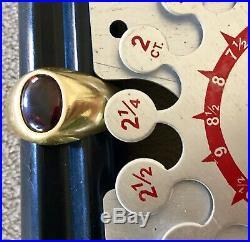Men's Vintage 18K Solid Gold 2 1/4 Ctw Ruby Ring Size 8