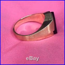 Men's Vintage Black Onyx Ring10k Gold Size 13