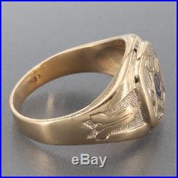 Vintage Mens Ring | Men's Vintage Solid 10K Yellow Gold