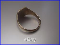 Men's/Womens 9ct Gold Vintage Signet Ring Weight 4.36g Size T Stamped