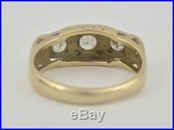 Mens Antique Vintage 14k Gold 1 Carat Ctw Vs2 G Diamond Ring Sz 12.25