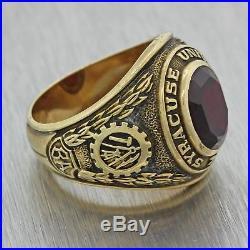 Mens Womens Vintage Estate 10k Gold BA Class Of 1957 Syracuse University Ring