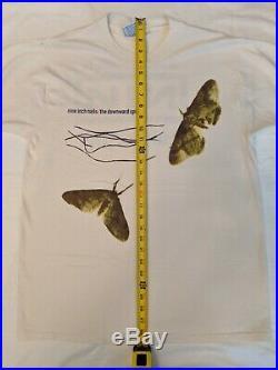 NINE INCH NAILS 1994 1995 vintage THE DOWNWARD SPIRAL tour shirt L rare Halo 8