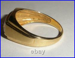 Nice Vintage classic 10k yellow gold men`s ring size 10.5